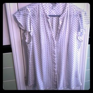 White-spotted V-neck womens shirt